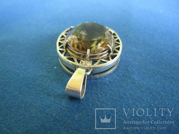 Кулон серебро и камень., фото №6