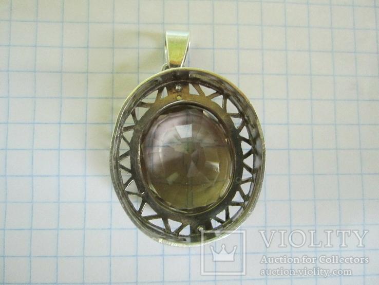 Кулон серебро и камень., фото №12