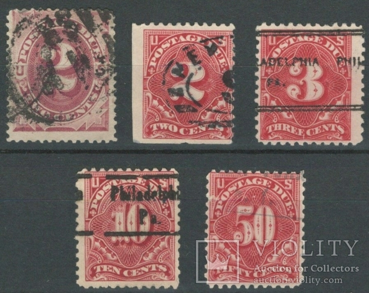 О049 США 1891-1910, доплатные марки