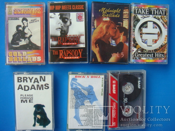 Аудиокассеты 18 штук: Детские, Рок, Релакс, английский, 1 новая., фото №7