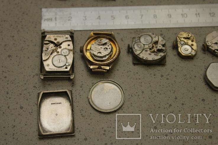 Лот механизмов от швейцарских часов  13 шт, фото №11