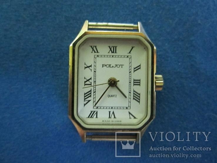 Часы полет кварц женские в позолоте под ремонт., фото №2