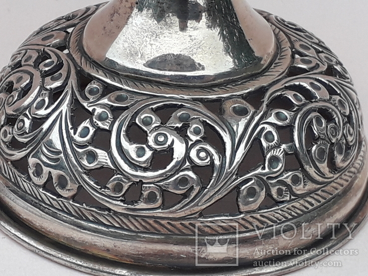 Подставка для благовоний, Индия, серебро, 225 гр., ручная работа, фото №4
