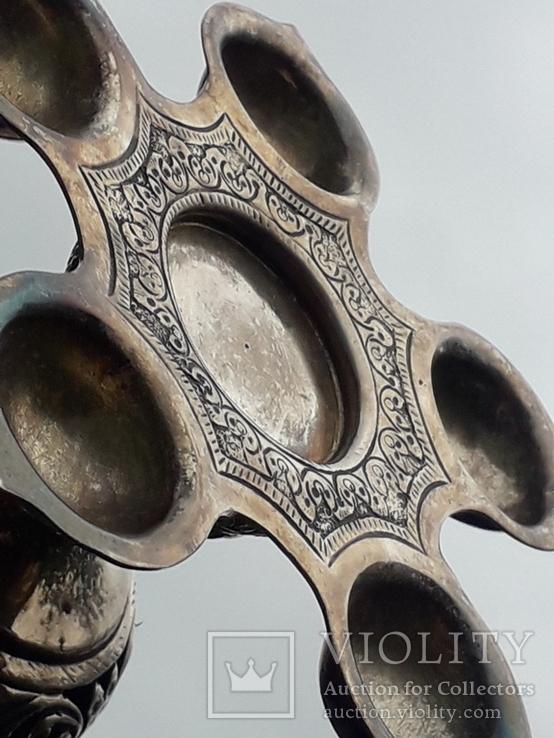 Подставка для благовоний, Индия, серебро, 225 гр., ручная работа, фото №11