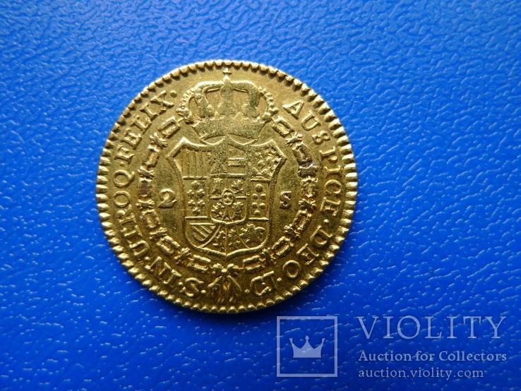 2 эскудо (дублон). Испания. 1820 год, фото №5