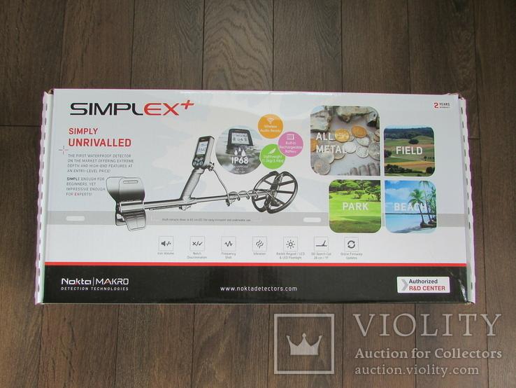 Металошукач новий Nokta Simplex+, гарантія 2 роки, чохол на блок, фото №4