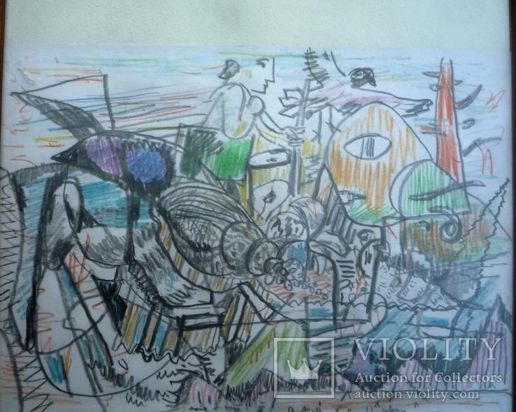 Миски-Оглу В.Н. Авангард рисунок пастель