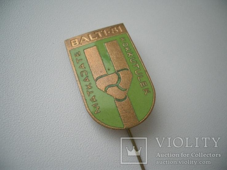Знак Балтия-81 туризм? Эстонская ССР 18х30 мм, фото №2