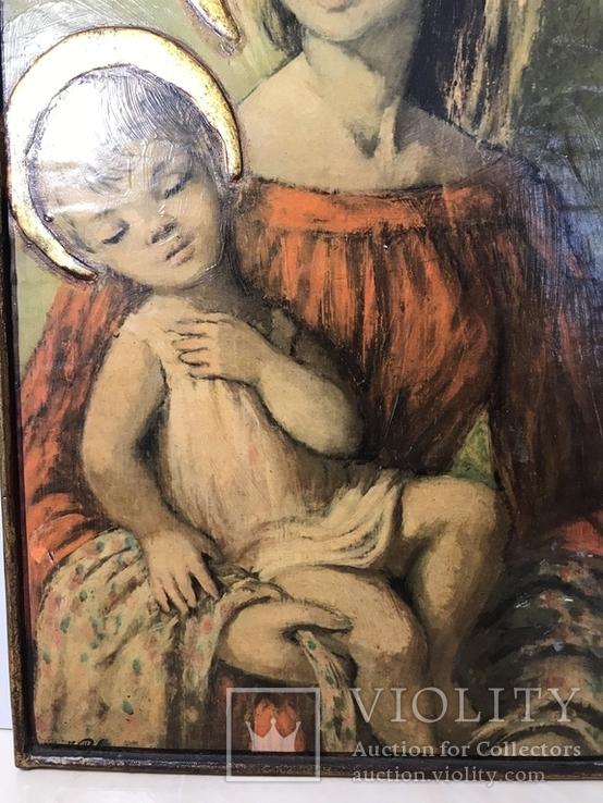 Ікона «Діва Марія з немовлям Ісусом», фото №9