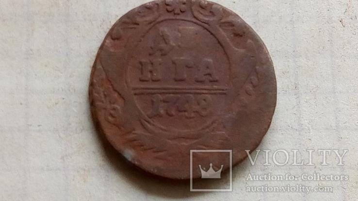 Деньга 1748 года, фото №2