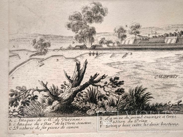 1674 План Ландреси, Франция. Большая карта (62х26, Верже) СерияАнтик, фото №7