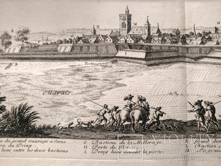 1674 План Ландреси, Франция. Большая карта (62х26, Верже) СерияАнтик, фото №8