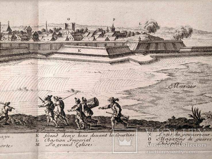 1674 План Ландреси, Франция. Большая карта (62х26, Верже) СерияАнтик, фото №9