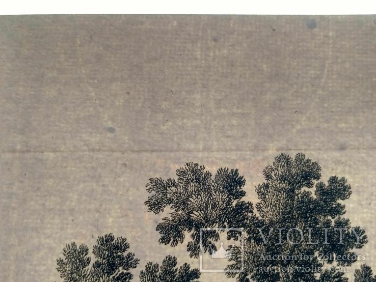 1674 План Ландреси, Франция. Большая карта (62х26, Верже) СерияАнтик, фото №12