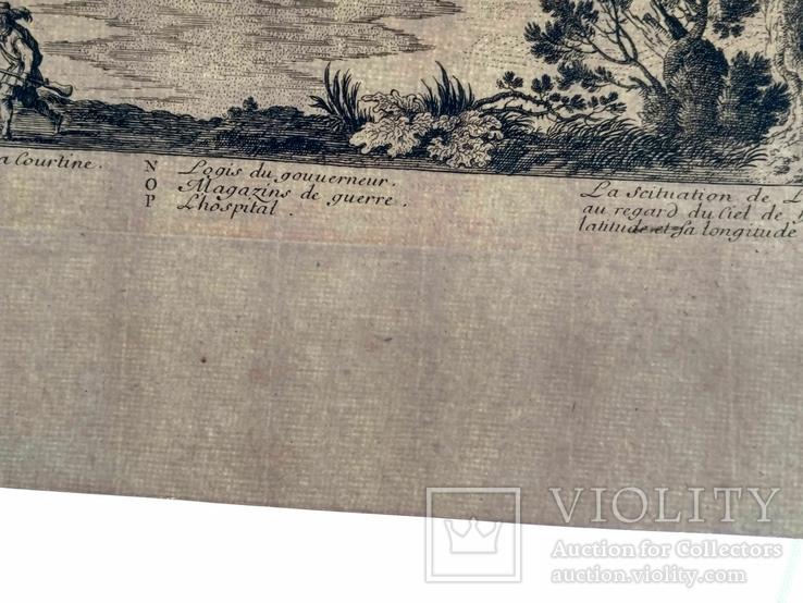 1674 План Ландреси, Франция. Большая карта (62х26, Верже) СерияАнтик, фото №13
