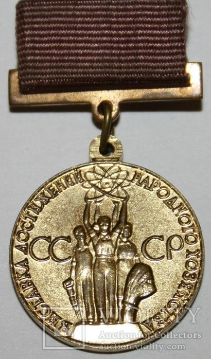 Бронзовая медаль ВДНХ (1966 - 90 гг.) СССР, фото №2