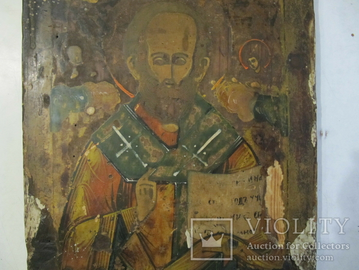 Икона Николай Чудотворец 31х25 см., фото №8