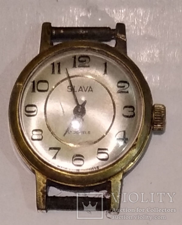 Женские часы Slava 17камней Au(рабочие), фото №6