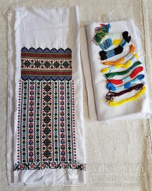 Незавершена вишиванка / вишита сорочка, повний комплект, фото №2