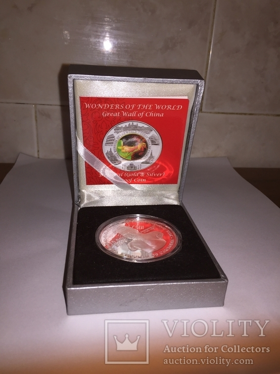 Монета Камбоджи золото-серебряная, фото №2