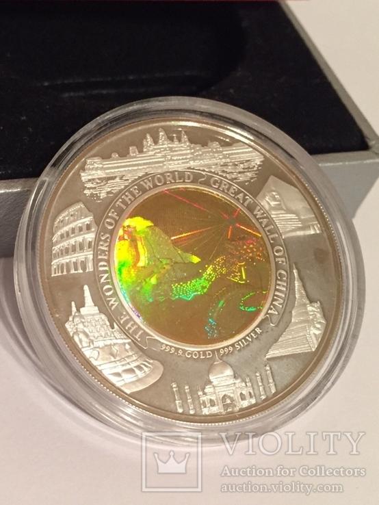 Монета Камбоджи золото-серебряная, фото №6