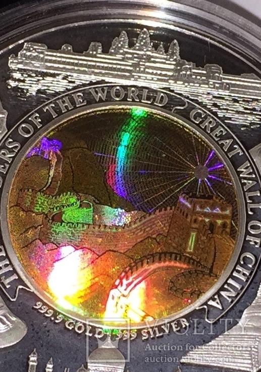 Монета Камбоджи золото-серебряная, фото №8