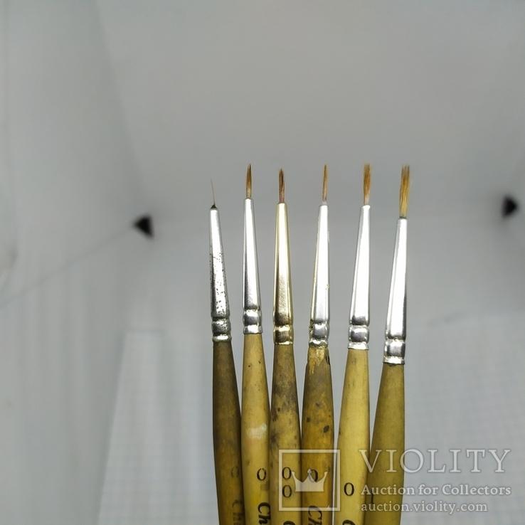 6 тонких кисточек Chernaya Rechka, Kolinsky, фото №12