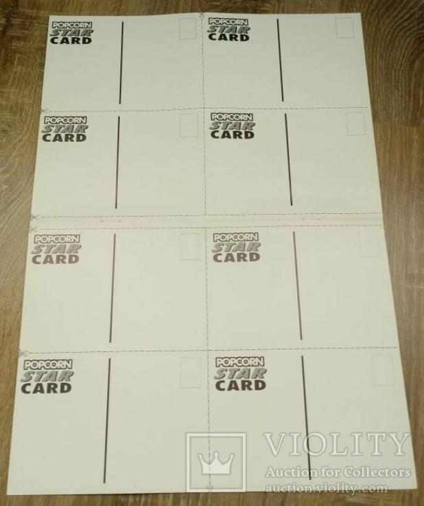PostCard / Поштова картка з журналу Popcorn (Popcorn Star Card) 8 шт, фото №3