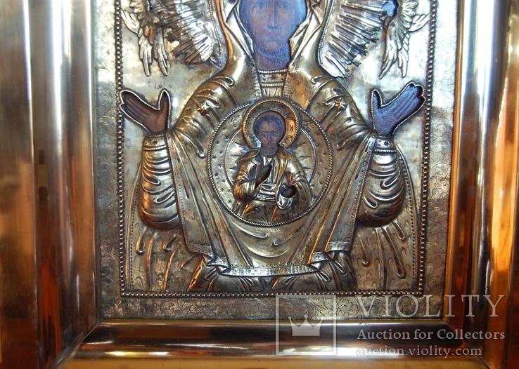 Икона Знамение в серебряном окладе 1793 года, фото №5