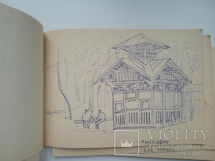 Блокноти з записами і малюнками художника Чалий, фото №5