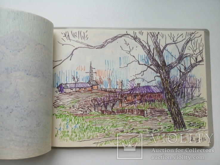 Блокноти з записами і малюнками художника Чалий, фото №7