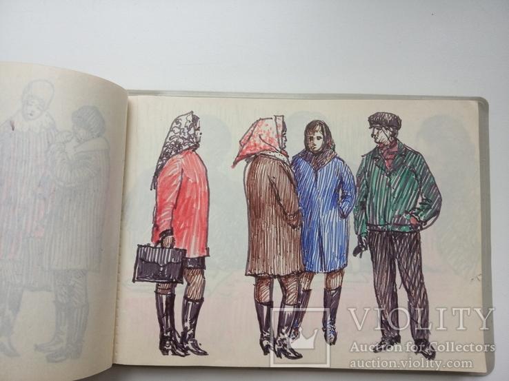 Блокноти з записами і малюнками художника Чалий, фото №9