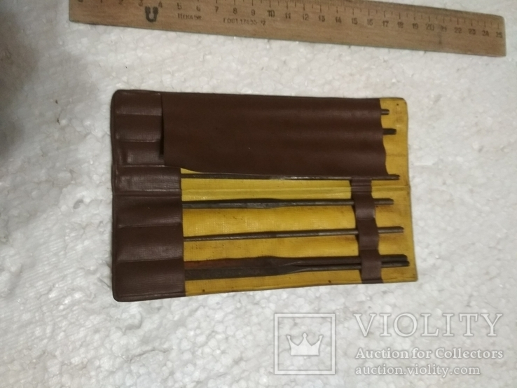 Набор напильники маленькие тонкие 8 шт. советские, фото №3