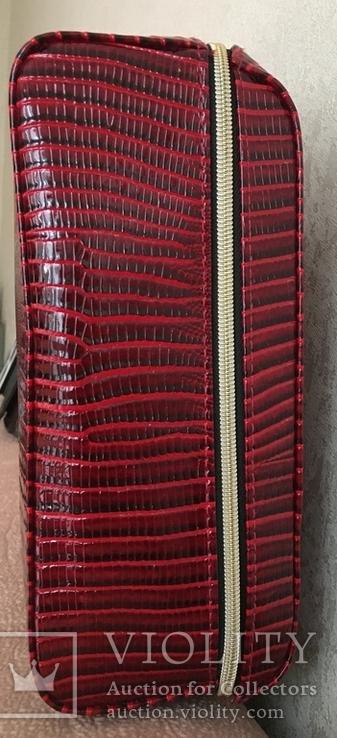 Брендовый чемоданчик-косметичка-футляр с ручкой Estee Lauder. 32/ 27/10 см, фото №6