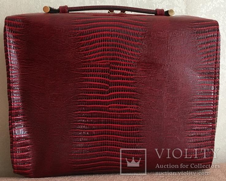 Брендовый чемоданчик-косметичка-футляр с ручкой Estee Lauder. 32/ 27/10 см, фото №7