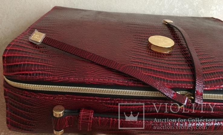 Брендовый чемоданчик-косметичка-футляр с ручкой Estee Lauder. 32/ 27/10 см, фото №8