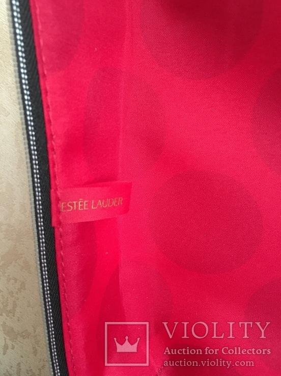 Брендовый чемоданчик-косметичка-футляр с ручкой Estee Lauder. 32/ 27/10 см, фото №10