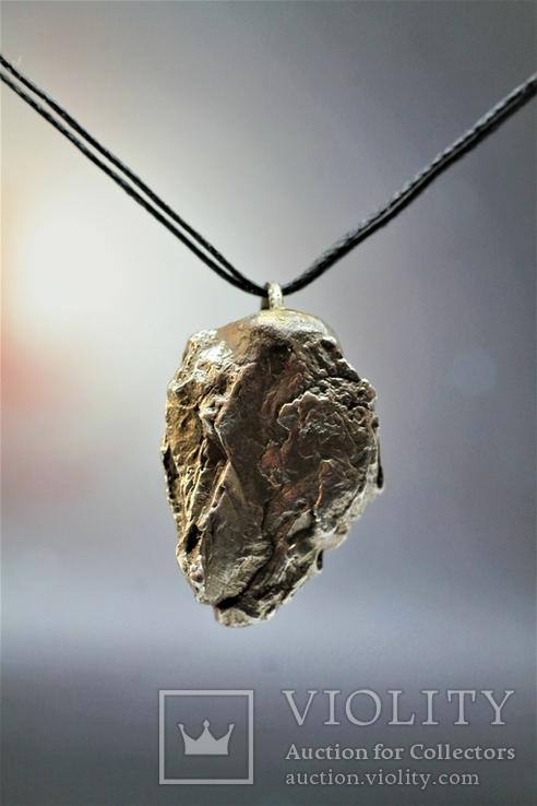 Підвіска із залізного метеорита Campo del Cielo, із сертифікатом автентичності, фото №2