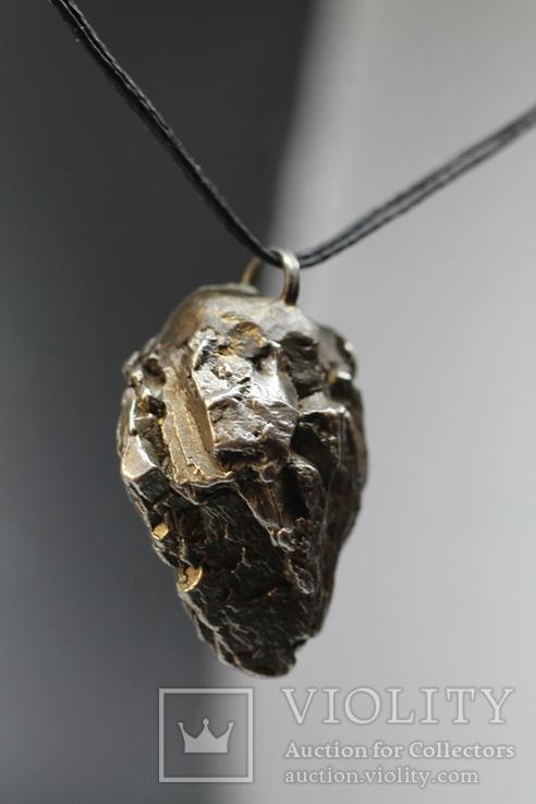 Підвіска із залізного метеорита Campo del Cielo, із сертифікатом автентичності, фото №12
