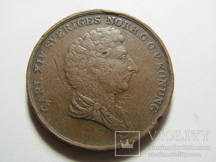 2 скиллинга 1843 Швеция, фото №6