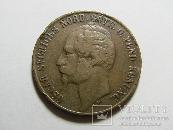 5 эре 1858 Швеция, фото №6