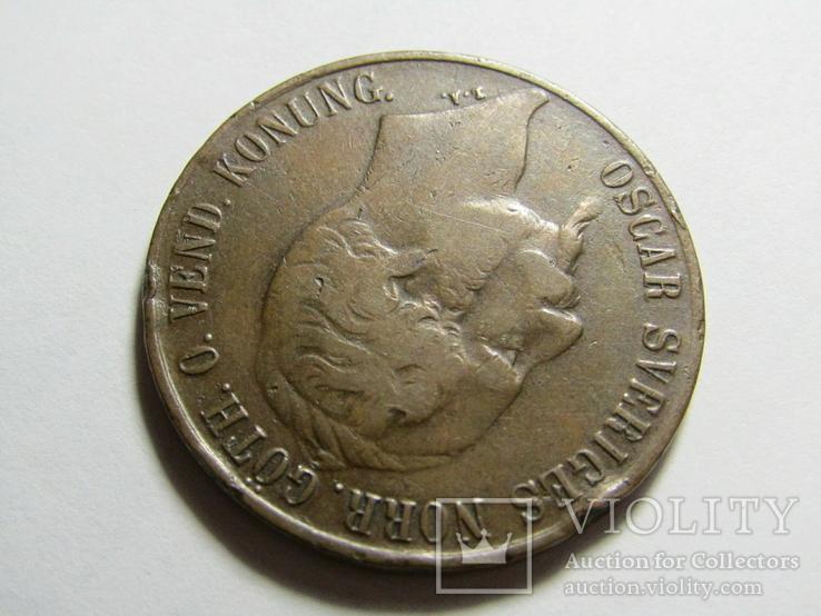 5 эре 1858 Швеция, фото №9