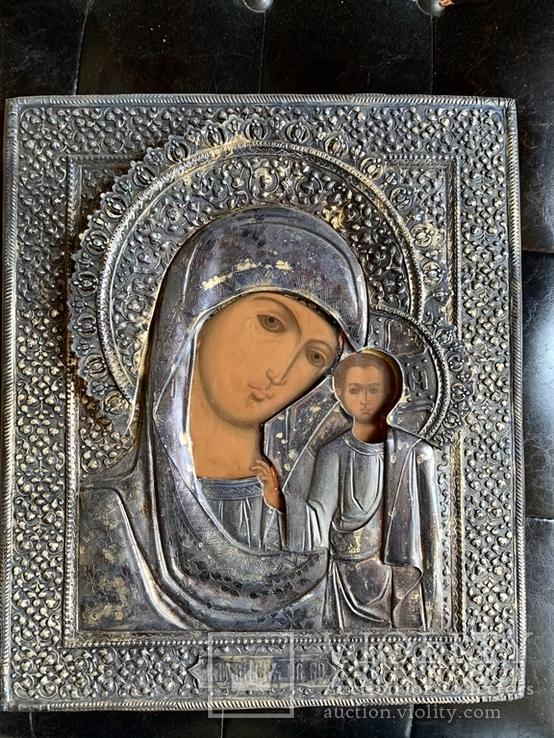 Икона Казанская Богородица, оклад  серебро 84