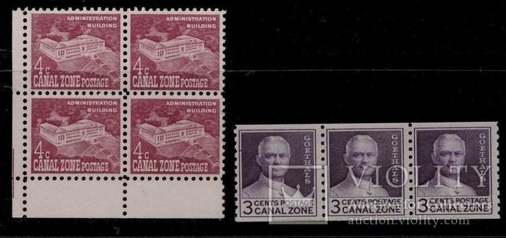 Зона Панамського каналу ** рулонні марки
