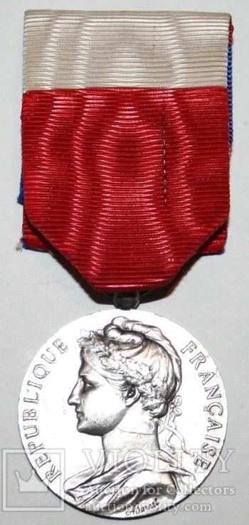 """Серебрянная медаль почёта""""Минист.Труда и Социальной Безопасности"""" IV степень (Франция), фото №2"""