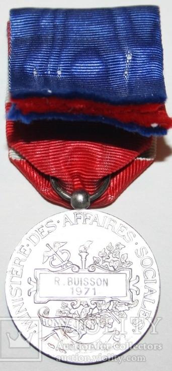 """Серебрянная медаль почёта""""Министерства соцобеспечения"""" (Франция), фото №4"""