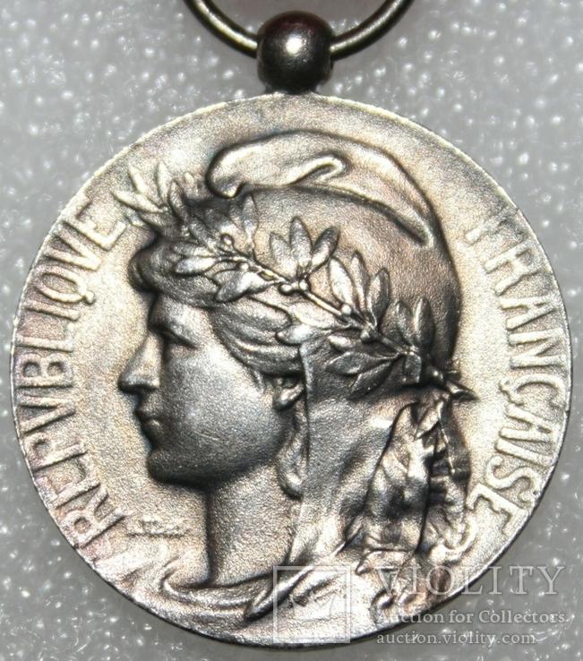 """Серебрянная медаль почёта """"За честный труд"""" IV степени (Франция), фото №4"""