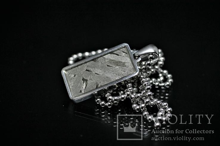 Кулон із залізо-кам'яним метеоритом Seymchan, із сертифікатом автентичності, фото №6