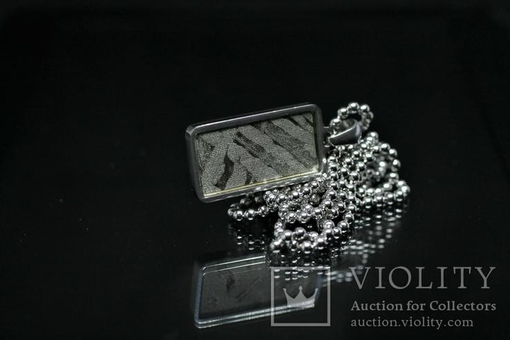 Кулон із залізо-кам'яним метеоритом Seymchan, із сертифікатом автентичності, фото №7