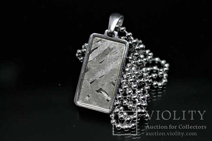 Кулон із залізо-кам'яним метеоритом Seymchan, із сертифікатом автентичності, фото №8